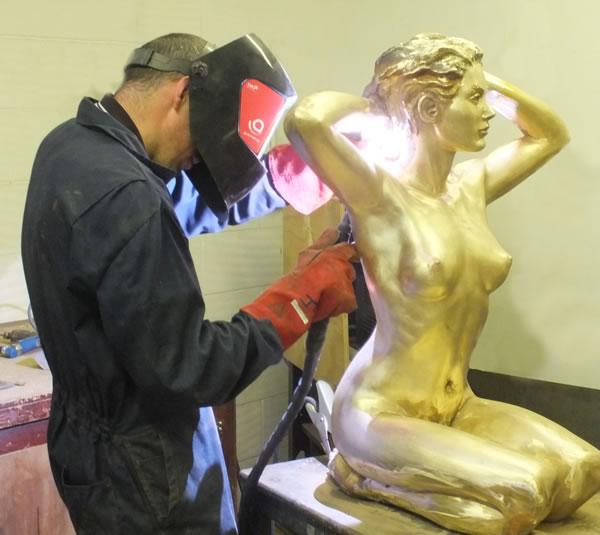 John cleaning Rosie