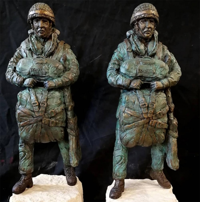 Two Airborne Maquettes by artist Amy Goodman ready to go