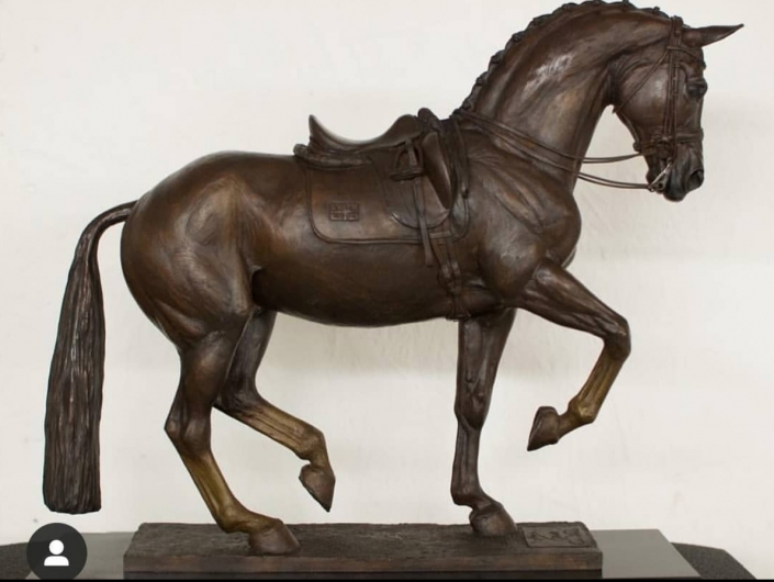 'Valegro' bronze horse by artist Georgie Welch