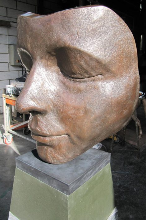 Re-patination and mounting of 'Sleeper' by artist Jilly Sutton