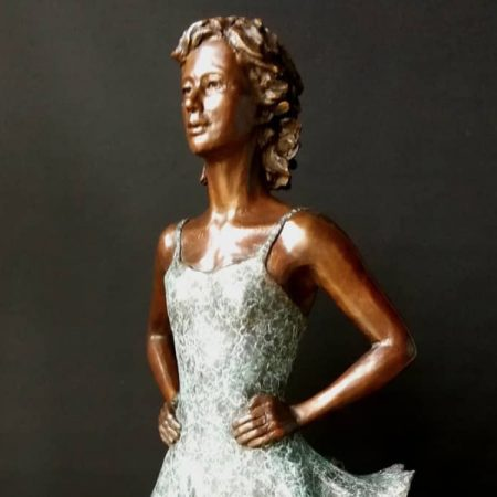 Half life size Irish Dancer by artist Vivien Mallock