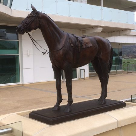 Judy Boyt's 'Golden Miller' cleaned and restored for next week's Cheltenham Gold Cup meeting by Talos Art Foundry