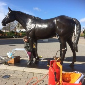 Philip Blacker's 'Best Mate' gets a special makeover from Talos Art Foundry, ready for Cheltenham Gold Cup week