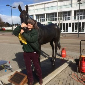 Philip Blacker's 'Best Mate' gets extra tlc from Talos Art Foundry ready for next week's Cheltenham Gold Cup meeting
