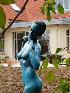 'Woman with Necklace' by artist Andrew Freidin. Recently finished and installed by the Talos team. What a lovely setting for her final resting place!
