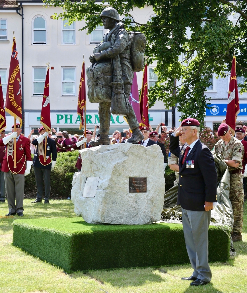 The Airborne Soldier bronze statue